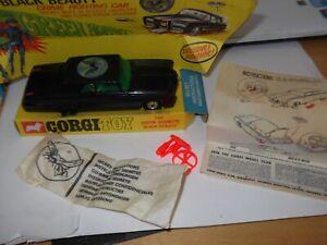 RARE VINTAGE CORGI 268 BLACK BEAUTY THE GREEN HORNET MECCANO NEAR MINT IN BOX +
