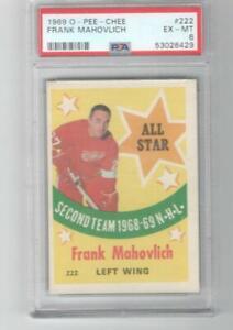 1969 OPC O-Pee-Chee # 222 Frank Mahovlich All Star PSA 6