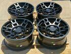 17x8 Matte Black Wheels Fits Toyota 4Runner Tacoma FJ 17 Inch 6x139 +5 Rims Set