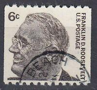 USA Briefmarke gestempelt 6c Franklin D. Roosevelt Rundstempel / 1781