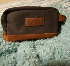 Plambag Canvas Leather Toiletry Bag for Men Travel Kit Shaving Shave