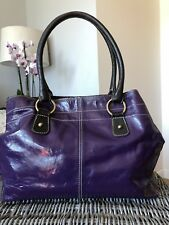 Designer BODEN Purple Patent Leather Tote / Shoulder Bag Handbag Shopper