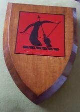 Vintage ANTI AIRCRAFT COMMAND Wooden WW2 Crest Shield Plaque British