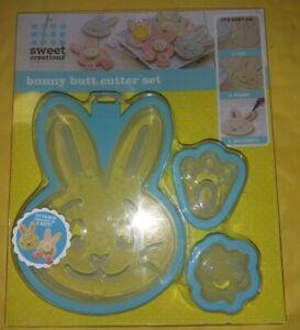 Sweet Creations Bunny Butt Cookie Cutter Set 3 cutters per set