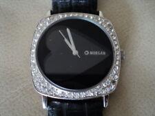 Morgan Designer Black Ladies Watch Heart Dial Quartz Working