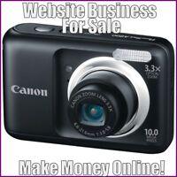 Fully Stocked DIGITAL CAMERAS Website Business|FREE Domain|FREE Hosting|Traffic
