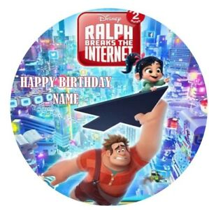 WRECK IT RALPH Edible Image Birthday Party Cake Topper 19cm Round
