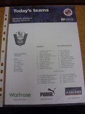 19/04/2014 FA Premier League U21 Cup Final: Reading U21 v Manchester City U21  (