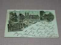 """AK Litho """"Gruß aus Bremen"""" gelaufen 1901 Inf. Regt. 75 (K261)"""