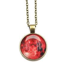 Glow In The Dark Blood Moon Necklace Bloodmoon