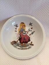 Vintage Germany Winterling Rustau Gottschlich Girl w Birds Childs Bowl Rare