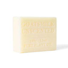 10x 100g Goats Milk Soap Unscented Soap Goat Bar Sensitive Skin Pure Natural