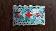 sello usado año L aniv. liga de sociedades cruz roja, edifil 1925 año 1969