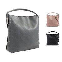 Ladies Stylish Studded Faux Leather Handbag Shoulder Bag Bucket Bag KT2319