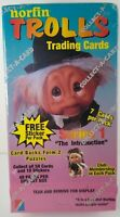 Sealed Vintage 1992 box of Norfin Trolls trading cards & stickers