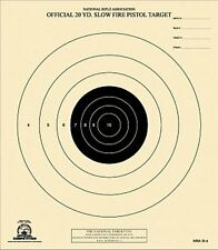 B-4 [B4] Nra Official 20 Yard Slow Fire Pistol Targets (100) on Tagboard