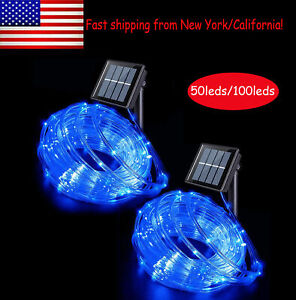 50/100 LED Solar Rope Tube Lights Strip Waterproof Outdoor Landscape Lighting