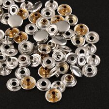 100pcs Stainless Steel 25 Sets Fastener Snap Press Stud Cap Button Boat Canvas