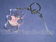 Love Heart Winnie Bear Inlay Mobile Cell Phone Charm KeyRing Key Chain Pendant