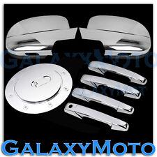 07-14 Chevy Suburban+Tahoe Chrome Mirror+4 Door Handle no PSG KeyH+Gas Cover