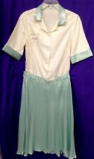 1950's Replica, Off White Blouse With Poodle Motif, Mint Colored Full Skirt
