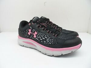Under Armour Women's Charged Intake 4 Running Shoes Black/Pink Size 7M