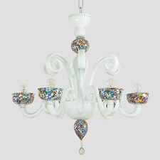 Murrine Colorate lampadario 6 luci in vetro di Murano