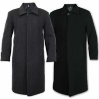 Mens Over Coat Wool Cashmere Coat Jacket Trench Warm Outerwear Winter Lined