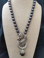 """Heidi Daus """"Mythical Griffin"""" Crystal-Accented Drop Necklace $330 RET NWT"""