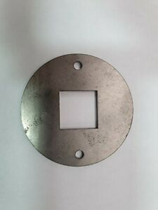 """4 x 75mm diameter steel washers, 1"""" / 26mm square hole sisis replacement"""