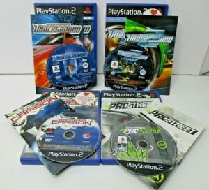 Need For Speed PS2 Bundle underground & under 2 + Carbon + Prostreet WITH Manual