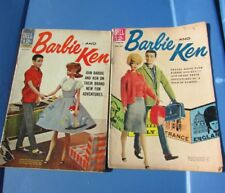 Vintage Barbie and Ken Comic Books Dell #2 #3 Rare Original 1962 1963
