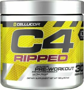 CELLUCOR C4 RIPPED iD Explosive Pre-Workout 30 SERV Ultra Frost +FREE SAMPLES