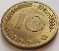 RARITÄT! 10 Pf 1950 D in PP NUR 400 EXEMPLARE SEHR SELTEN !!!