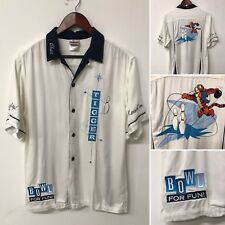 Disney Tigger Bowling Button Up Shirt Embroidered Men's Small