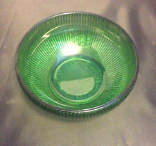Emerald Green Ribbed Candy Dish Bowl Vintage E.O. Brody Co Cleveland Ohio