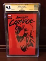 ABSOLUTE CARNAGE 1 CGC SS 9.8 1:200 RED BLANK VARIANT 2XSKETCH RYAN STEGMAN OWW!