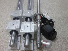 SBR16 linear rail set+ballscrew end machine+ BK/BF12 end+couplers
