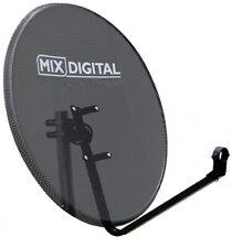 80cm Mesh Satellite Dish with Pole Mount Fittings Freesat TV Hotbird Astra