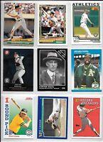 Mark McGwire plus 8 more Athletics baseball card lot