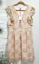 Sui by Anna Sui Glitter Scallop Lace Dress Women Size XL