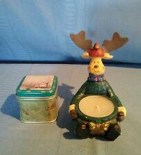 Christmas Scented Candle Tin & Reindeer Tea Light