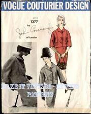 Vintage 60's Vogue Couturier 1277 JOHN CAVANAGH SUIT SKIRT JACKET Sewing Pattern