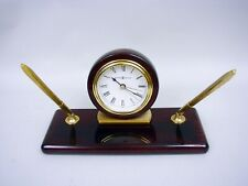 Howard Miller Rosewood Desk Set Table Clock #613-588 - Retail $190