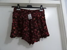 Ladies Urban Outfitters Ecote Wine/bordx High Wasted Shorts Size M -