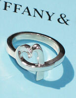 Tiffany & Co Paloma Picasso Sterling Silver Loving Heart Ring