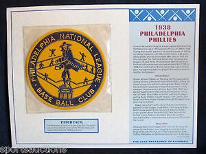 1938 PHILADELPHIA PHILLIES Willabee Ward LOST TREASURES BASEBALL TEAM LOGO PATCH