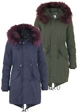 Khujo Damen Jacke Methone Jacket Parka | Reißverschluss Kapuze Winter warm Fell