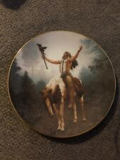 "Hamilton Collection ""Deliverance"" Mystic Warrior Collectors Plate 1992"
