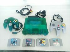 NINTENDO 64 Funtastic Ice Blue WITH 4 GAMES,2 CONTROLLERS- 1 ICE BLUE,1 CHARCOAL